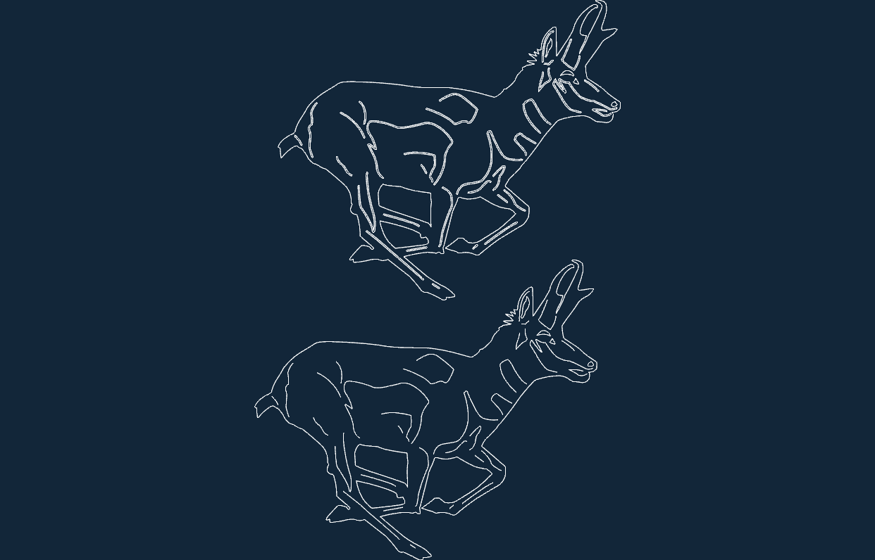 Animals Deer Sitting Dxf File Free Download 3axis Co