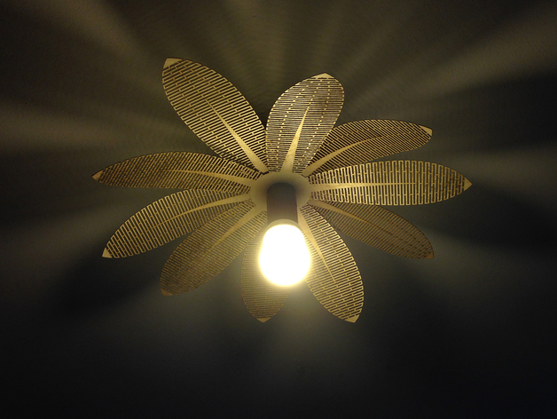 Flower Laser Lamp CDR File