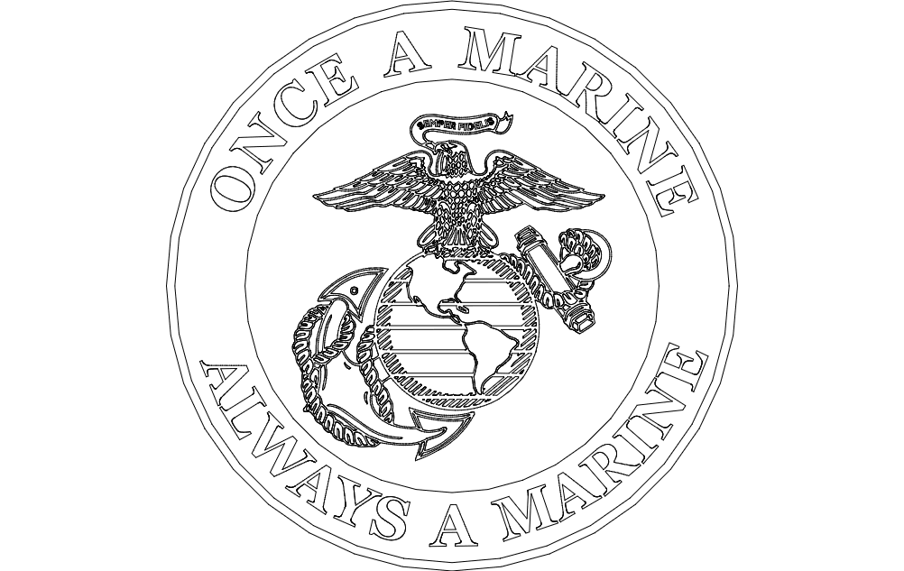 Once A Marine Always A Marine dxf File Free Download ...
