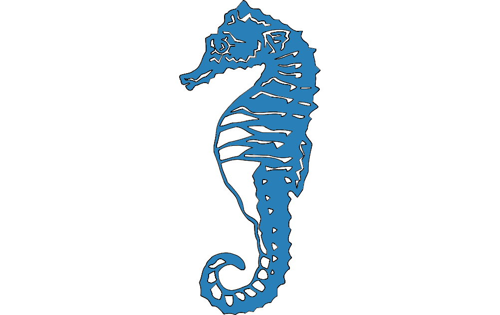 Seahorse Dxf File Free Download 3axis Co