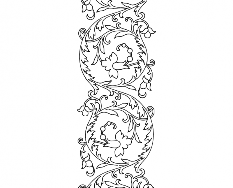 Free Hand Embroidery Pattern Scroll Design Dxf File Free Download