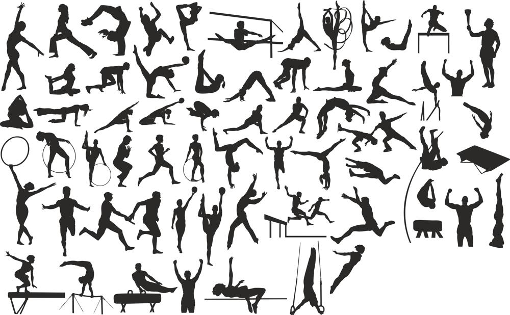 Sports Silhouettes Vector Set CDR File