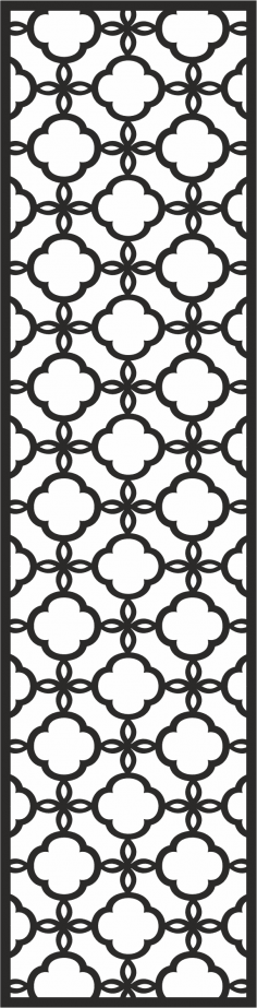 Wrought Iron Window Design Silhouette Cutout Vector CDR File
