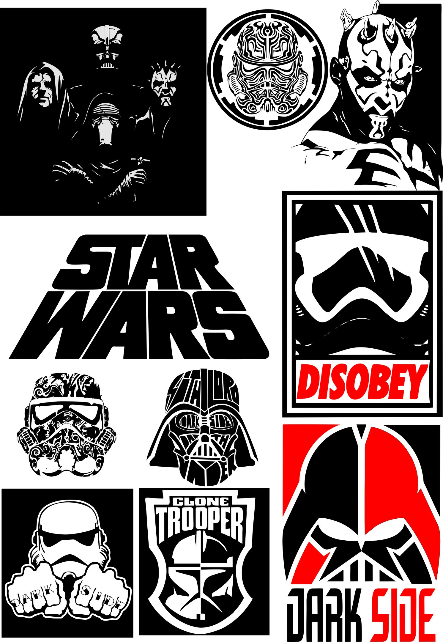 Star Wars Silhouette Vector Pack Free Vector Cdr Download