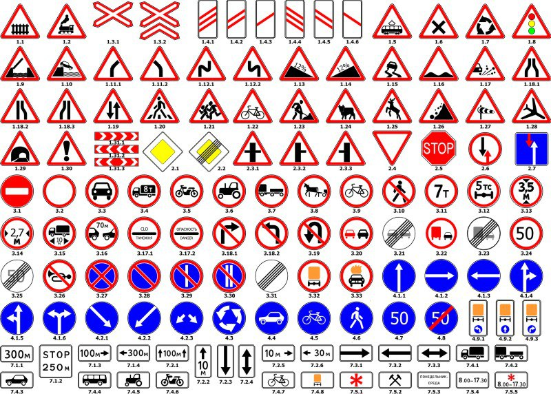 Road Sign Vector Set CDR File