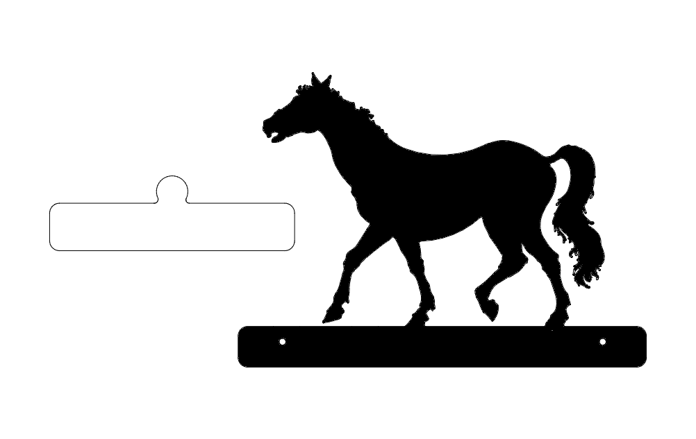 Horse Walking Plate dxf File
