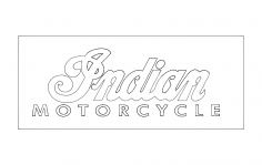 Indian Motorcycle Logo dxf File