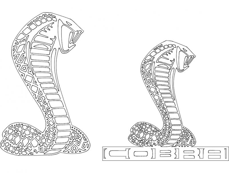 Cobra Logo dxf File