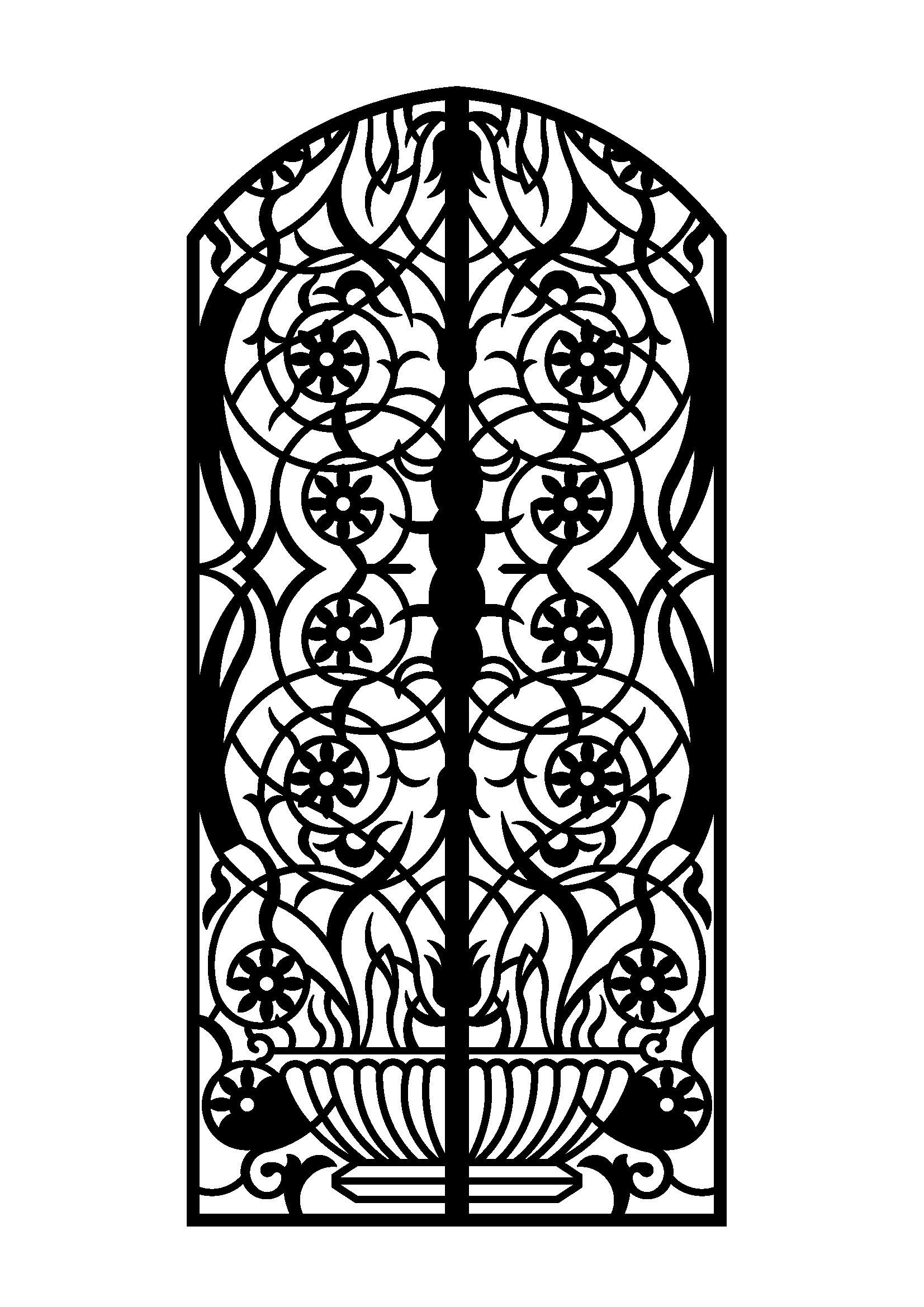 design of iron safety door  | 1200 x 1771