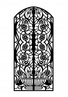 Laser Cut Door 3mm Steel dxf File