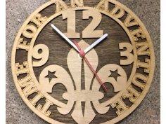 Cadre Horloge Scoute dxf File