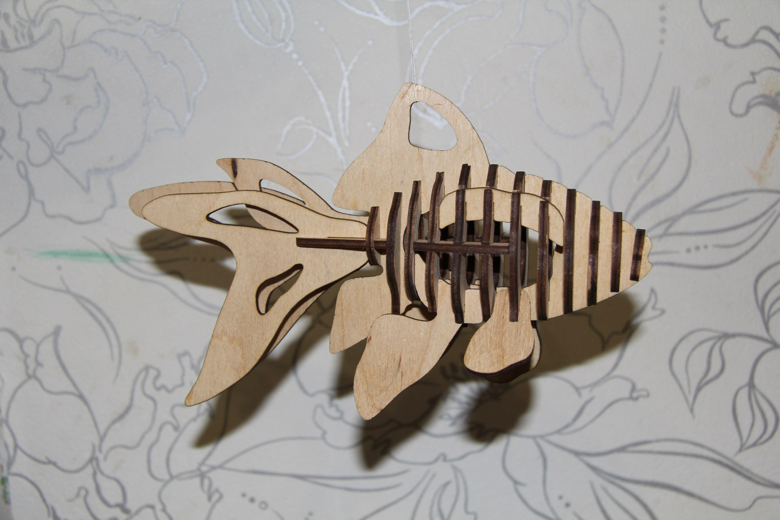 Fish 3d Puzzle Laser Cut Pattern Free Vector Cdr Download