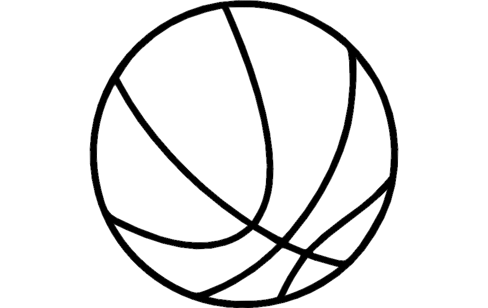 Basketball dxf File Free Download - 3axis co