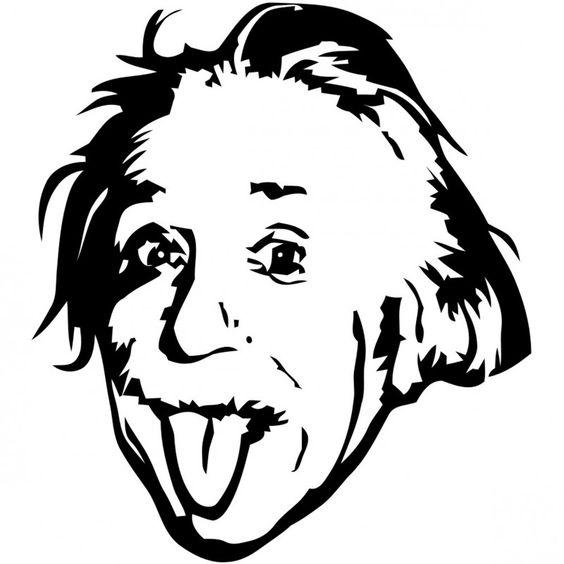 Albert Einstein Genius Meme Stencil Dxf File Free Download