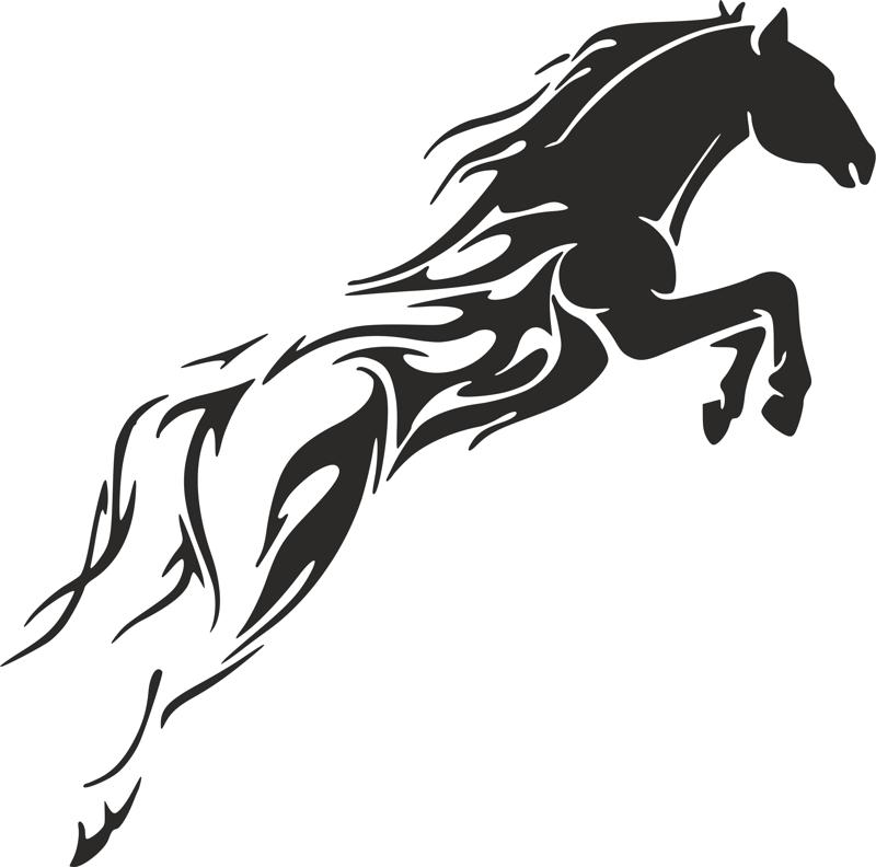 tribal horse unique tattoo for men dxf file free download