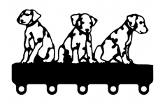 Puppies Coat Hook dxf File