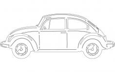 Vw Bug dxf File
