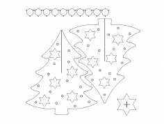Weihnachtsbaum (Christmas tree) dxf File
