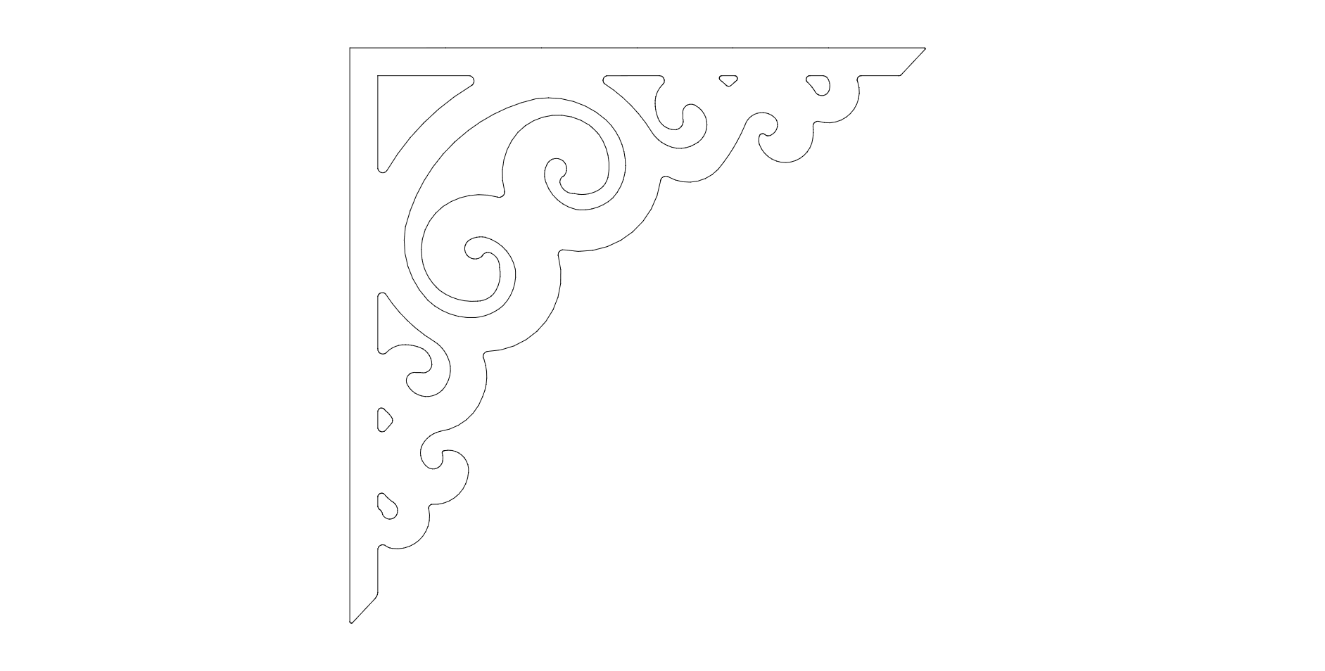 Corner Decoration dxf File