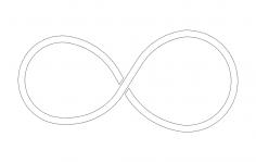 Infinity Symbol dxf File