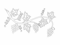 Grape Vine dxf File