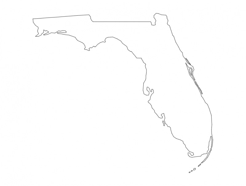 Florida State Map Fl Dxf File Free Download 3axis Co