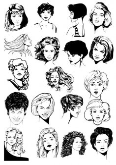 Women Faces CDR File