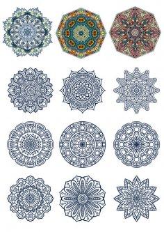Doodle Circular Pattern Design Mandala CDR File