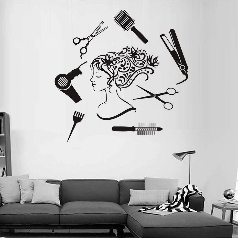 Hair Salon Girl Wall Art Dxf File Free Download