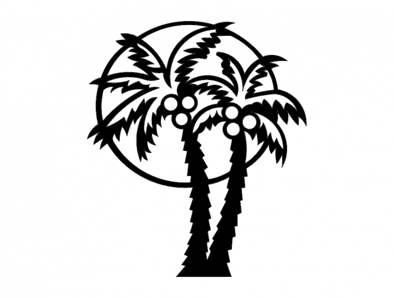 Palm tree dxf File Free Download - 3axis co