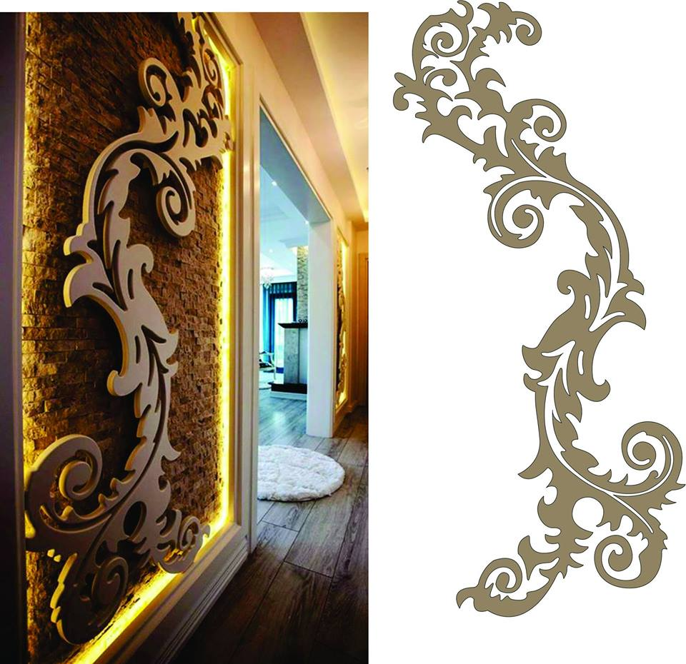 Decorative Panel Grille Pattern Dxf File