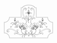 Floral Design dxf File