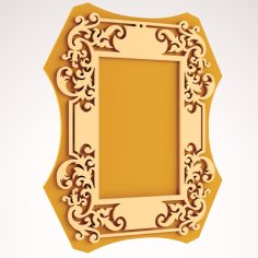 Laser Cut Wood Frame DXF File