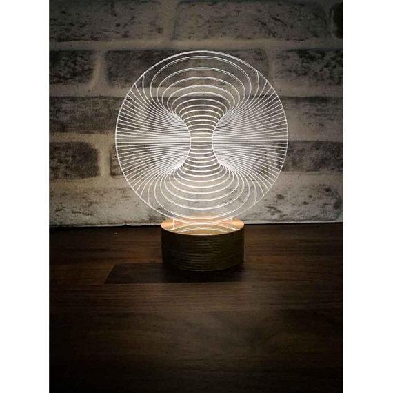 3D Illusion LED Lamp CDR File