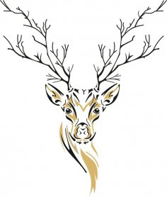 Deer Sketch CDR File