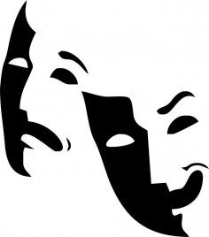 Theater Logo Mask CDR File