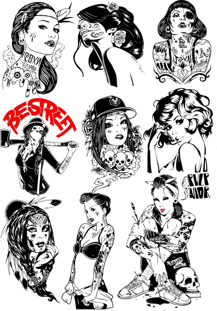 Girls Vector Collection Free Vector cdr Download - 3axis co