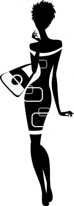 Classy woman silhouette Vector CDR File