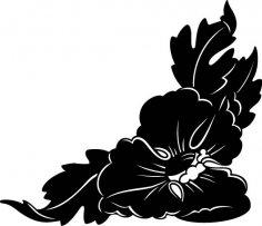 Big Flower Corner Design EPS File