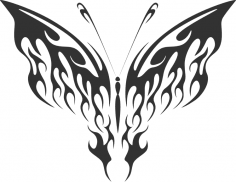 Decorative ornamental butterfly silhouette CDR File