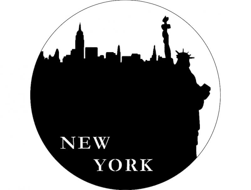 New York clock dxf File