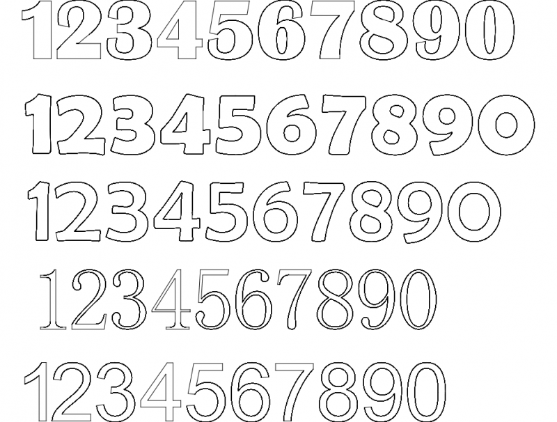 12345 Number Fonts Dxf File Free Download 3axis Co