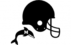 Dolphin Helmet 3d dxf File
