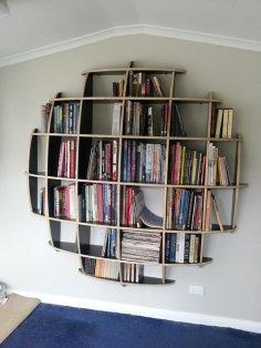 Spherical Bookshelves dxf File