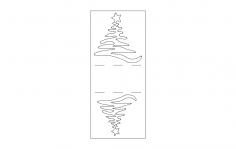 Christmas Napkin Holder dxf File