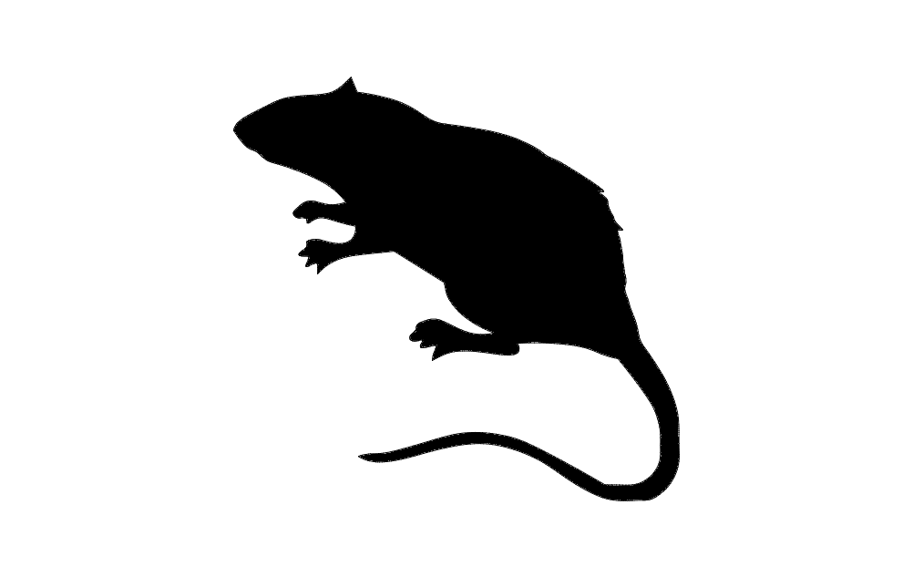 Rat Silhouette Dxf File Free Download 3axis Co