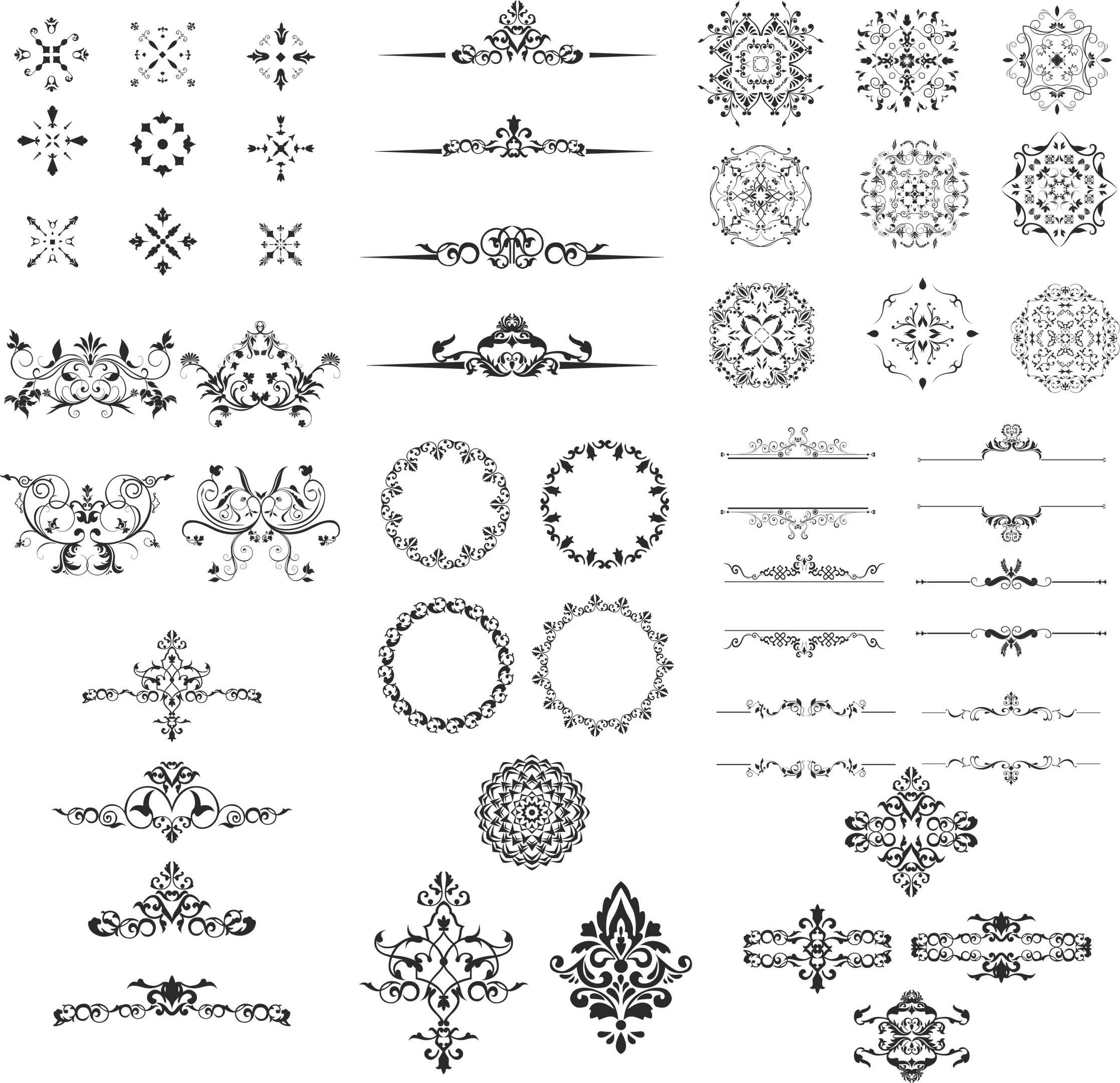 Ornament Design Kit Free Vector cdr Download - 3axis co