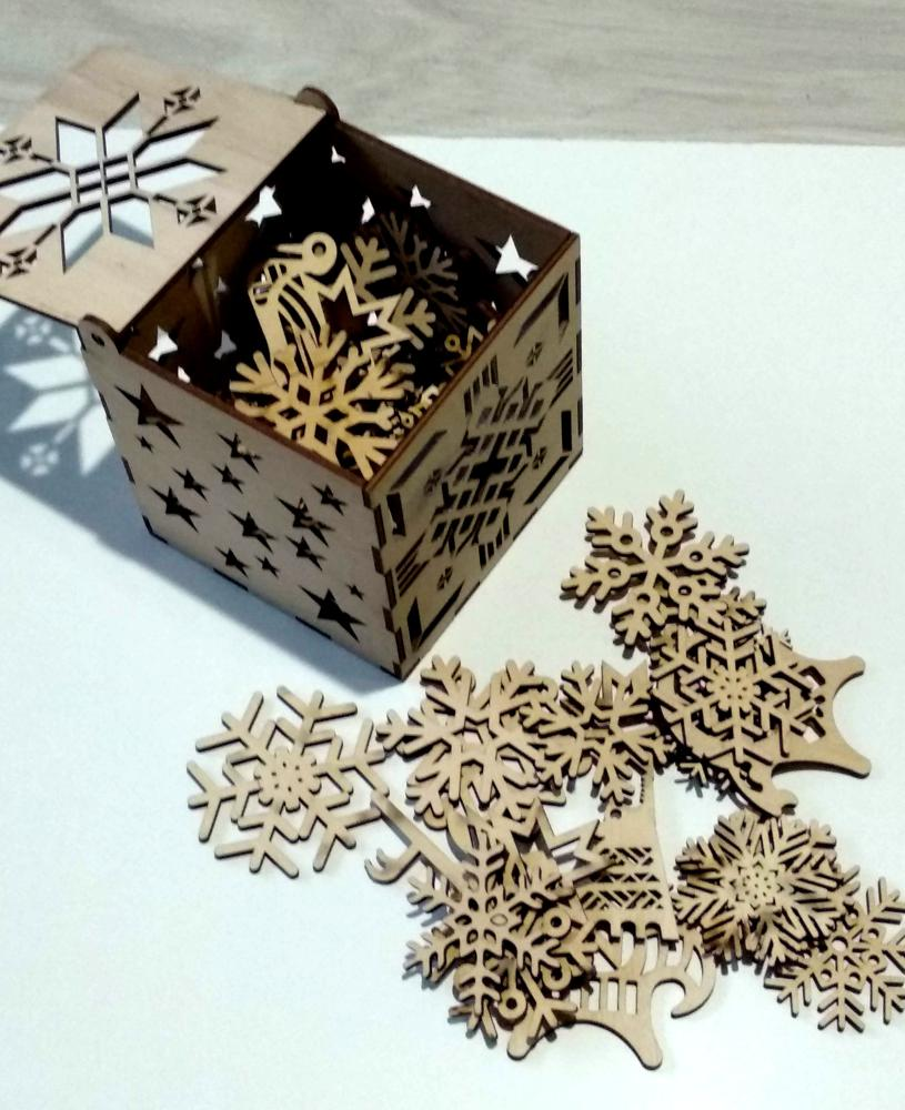 Laser Cut Snowflakes Christmas Tree Decoration Box Free Vector Cdr Download 3axis Co