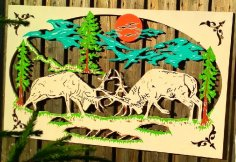 Laser Cut Scenery Wall Art DXF File