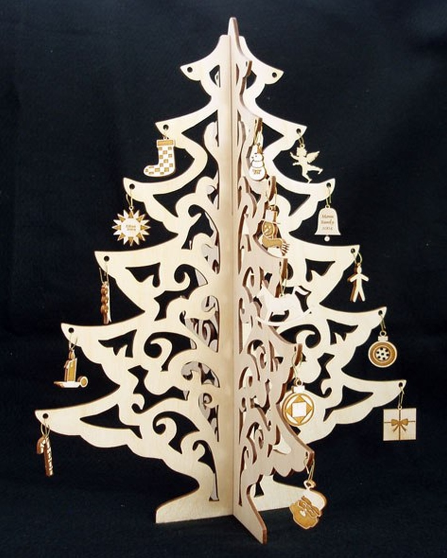 Christmas Tree Jewelry Didplay Wood Crafts Laser Cut Free Vector Cdr Download 3axis Co